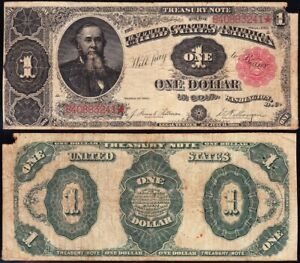 "Circulated 1891 $1 ""STANTON"" Treasury Note! FREE SHIPPING! B40883241*"