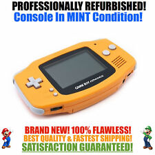 *New Glass Screen* Nintendo Game Boy Advance Gba Orange System Mint New