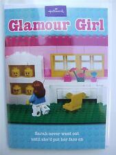 Lego Glamour girl joke card by Hallmark, 10892372