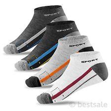 12-48 Paket Sneaker Socken Füßlinge Kurz Sport Baumwolle Schwarz Herren Damen