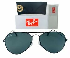 Ray-Ban Aviator Classic RB3025 002/62 Black Sunglasses 58mm G-15 Lens W/ Case