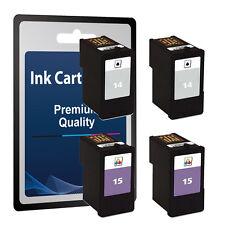 4 Ink Cartridges for Lexmark 14 & 15 - Z2300 Z2310 Z2320 X2600 X2630