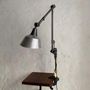 ANCIENNE LAMPE INDUSTRIELLE A ETAU BAUHAUS MIDGARD Old German Lamp