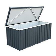 Heavy Duty Galvanized Steel Metal Garden Cushion Storage Box 1.7m Medium Gray
