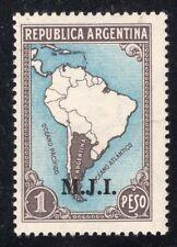 """ARGENTINA 1938/9 OFFICIAL STAMP # 309 MNH """"M.J.I."""""""