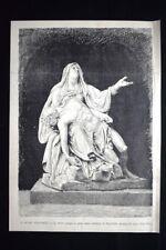 Il Museo Filangeri - La Pietà,gruppo attribuito al Tagliolini Incisione del 1882