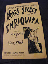 Partitura Notre Secret Enriquita Alain Rylls Tango Vals Española