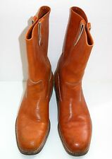 HyTest Leather WORK BOOTS Steel Toe Oil Resist Union Made in USA 10 Tufgum