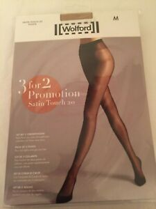 Wolford Satin Touch 20 Tights  3 for 2 promotion pack in MEDIUM in Cosmetic per/