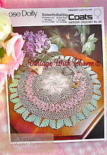 Vintage Crochet Pattern Beautifully Decorated Rose Doily! JUST £1.99 + FREE P&P!