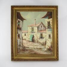 "Original Oil Painting by Spanish Artist Juan Pascual ""Rural Village"" - 50 x 60cm"