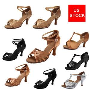 US Stock Latin Dance Shoes Women Girls Indoor Ballroom Party Tango Dancing shoes