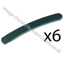 Black Boomerang Nail File 100/180 Grit Pack of 6 Files for Manicure Treatment