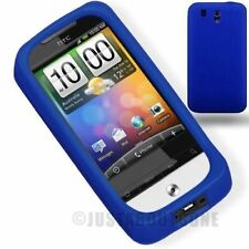 BLUE HTC LEGEND G6 SOFT SILICONE RUBBER GUARD PROTECTOR COVER CASE STYLUS -1