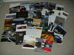 COLLECTION OF BROCHURES AND PRESS KITS 1970'S-00'S BMW PORSCHE MERCEDES LOTUS ++