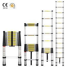 12.5ft Aluminum Telescoping Telescopic Extension Ladder Tall Multi Purpose