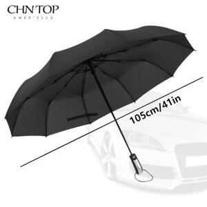 Automatic Umbrella Wind Resistant Folding Rain Windproof Man Woman Big Umbrella