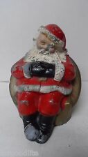 Vintage Xmas Bank - SANTA ASLEEP IN CHAIR - Peoples National Bank of Lebanon PA