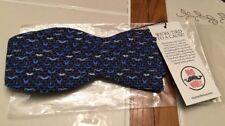 NWT Mens Vineyard Vines Bow Tie Movember Mustache Blue (Men's Health)