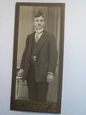 Elsterwerda - stehender Mann im Anzug - Portrait / CDV