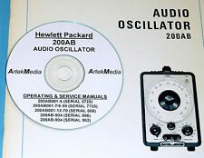 HP 200AB Audio Oscillator Ops & Service(5 manual set)
