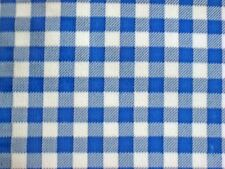 DARK ROYAL BLUE GINGHAM CHECK COUNTRY KITCHEN OILCLOTH VINYL TABLECLOTH 48x72