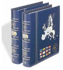 Vista euro moneda álbum Set-volúmenes No. 1 Y No. 2