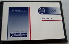 1996 Cadillac Seville Owners  Manual Parts Service