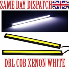 2x Waterproof Car DRL Fog LED Lights Strip Daytime Running COB Bright Drive Lamp