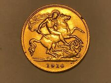 More details for 1914 george v gold half sovereign. nice example (1)
