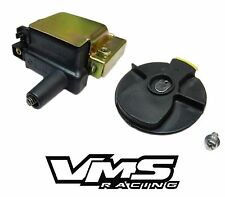 VMS RACING OE REPLACEMENT COIL + ROTOR BLACK FOR 97-01 HONDA PRELUDE H22