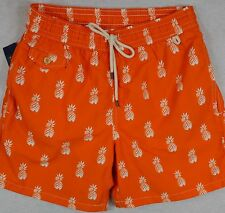 Polo Ralph Lauren Swim Shorts Swimming Trunk Fiesta Orange Pineapple S NWT
