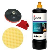 Kit de Lustrage 3M Bouchon Jaune 80349 + 50488 + Plateau + Microfibres