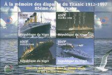 Niger RMS Titanic Commemorative stamp  Block 85th Anniversary 1912-1997