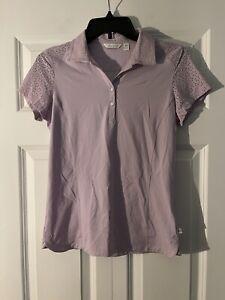 Lady Hagen xs short sleeve polo purple