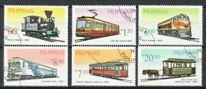 PHILIPPINES 1984 LAND TANSPORT TRAIN & LRT COMP. SET OF 6 STAMPS SC#1731A-1731F