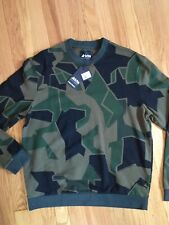 Fred Perry X Artktis Limited Large Men's Camo Sweatshirt NWT Mod Oi