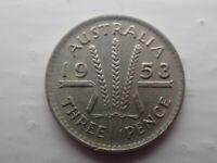 1953 Australian Threepence   (lot 701)