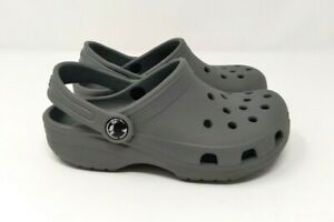 Crocs Baby Toddler Perforated Waterproof Clogs Grey Size 12 Shoes