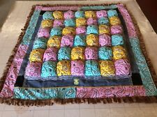 Baby Bubble Quilt, Puff Quilt, Floor mat,Tummy Time, Pink,Yellow, Turquoise