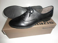 NEU Tamaris Echtleder Schuhe Halbschuhe Ballerina Gr.40 schwarz  zu Kleid Jacke