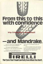 Pirelli Mandrake Tyres Motorcycle 1980 Magazine Advert #2473