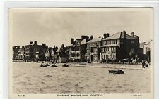 CHILDREN'S BOATING LAKE, FELIXSTOWE: Suffolk postcard (C11386)