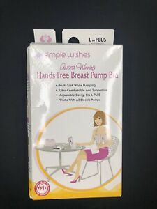Simple Wishes L-Plus Pink Open Nipple Bustier Bra For Hands Free Breast Pump
