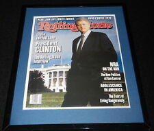 Bill Clinton Framed December 9 1993 Rolling Stone Cover Display