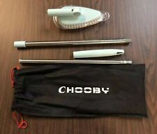 Chooby Long Extendable Cleaning Brush With Scrubber Blue - NEW! FAST!