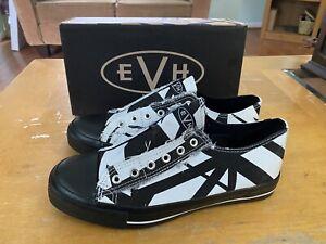 EDDIE VAN HALEN - NIB Low Top Sneakers wht/blk - Sz 8.5 W / Sz 7 M EV053 5150