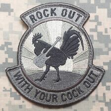 ROCK OUT WITH YOUR COCK OUT ARMY ACU VELCRO® BRAND FASTENER PATCH