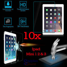 10 x 9H Premium Tempered Glass Film Screen Protector Apple iPad Mini 1 2 3 Lot