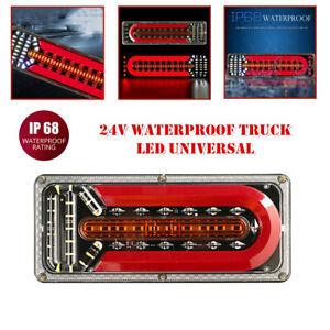 24V Truck LED Rear Tail Light Trailer Warning Light Stop Brake Turn Signal Lamp
